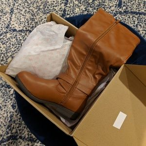 Chestnut wide calf boots size 7